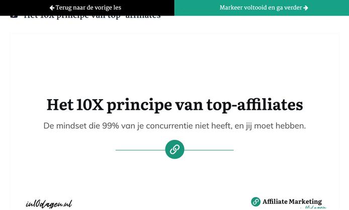 affiliate marketing in 10 dagen review - 10x principe