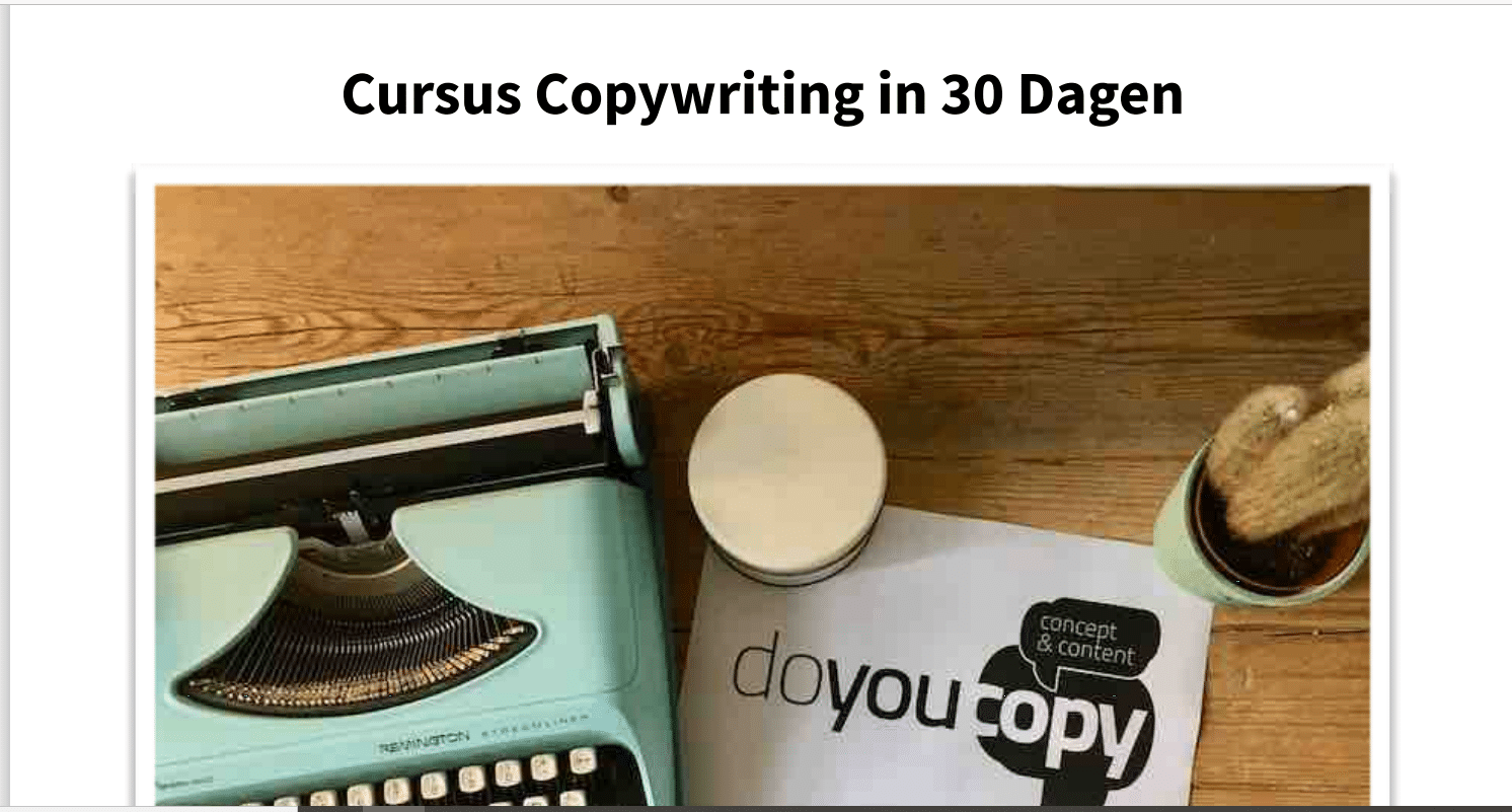 cursus copywriting in 30 dagen - review