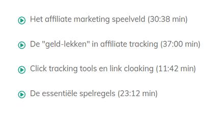 inhoud affiliate marketing in 10 dagen