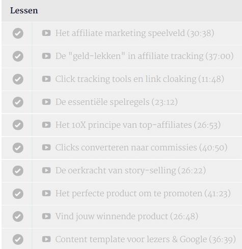 lessen affiliate marketing in 10 dagen