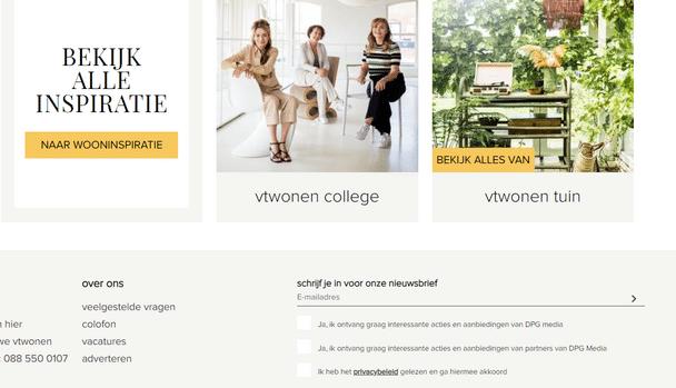 vtwonen.nl - voorbeeld commitment en consistentie